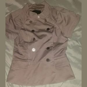 BCBG Taupe Military Vest